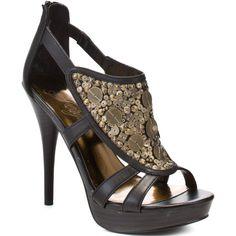 Fergie Kaper Too Heel - Black ($77) ❤ liked on Polyvore