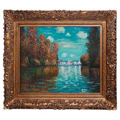Bring iconic style to your living room, foyer, or bedroom with this hand-painted reproduction of Claude Monet's Autumn at Argenteuil, artfully framed ...