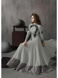 Grey Colour Georgette AnarkaliSuit