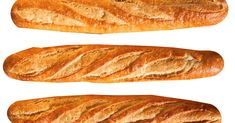 This recipe reduces the length of traditional baguette to fit in home ovens and calls for adding ice cubes to a hot cast-iron skillet to create steam. Side Recipes, Bread Recipes, Cooking Recipes, All Purpose Flour Recipes, French Baguette Recipe, French Bun, Rainbow Food, Italian Bread, Bread Rolls