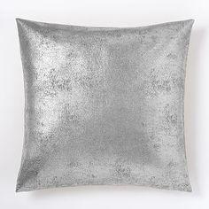 St. Jude Metallic Foil Pillow Cover - Silver #westelm
