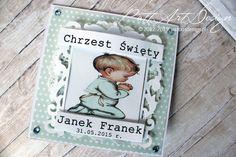Chrzest Swiety Janka Franka #kartka #handmade #chrzest #chłopiec #rękodzieło