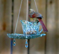 16 Pics Here With Directions....teacup Hanging Feeders