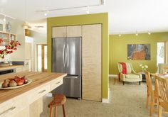 Get the Look of a Built-in Fridge for Less. Build into the wall