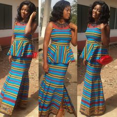 Check Out This Beautiful Ankara Skirt and Blouse Style - http://www.dezangozone.com/2016/08/check-out-this-beautiful-ankara-skirt_17.html