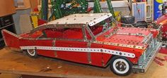 """My Model of Christine 1958 Plymouth Fury, from the movie Christine."" Keith Campbell"