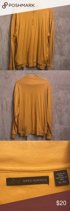 Greg Norman 1/4 Zip pullover Gold color Greg Norman pullover. Greg Norman Shirts Sweatshirts & Hoodies