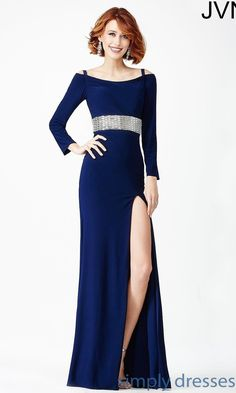 Floor Length Jvn By Jovani Military Ball Gown With Sleeves. Cocktail Dresses  OnlineEvening ... 55d72dd0a6ef