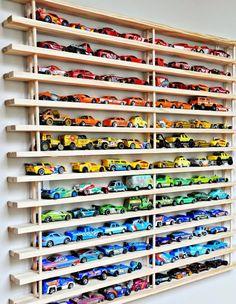 Playroom and Toy Organization - Diy Decoration - 2019 Hot Wheels Storage, Toy Car Storage, Hot Wheels Display, Matchbox Car Storage, Smart Storage, Garage Storage, Shoe Storage, Childrens Toy Storage, Shoe Shelves