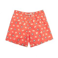 WCAO Mens Swim Trunks Blue Hawaiian Hibiscus Flowers Art Swimming Short Athletic with Pockets