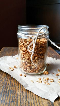 {Healthy, Vegan, Low Calorie} Celebrate fall with this seasonally spiced autumn granola! Perfect for breakfast or snacking, this granola bursts with cozy autumn flavor.
