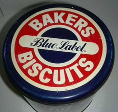 Bakers Blue label biscuit Tin