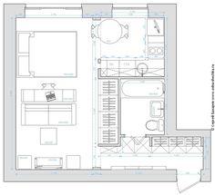 Дизайн однокомнатной квартиры +7 (495) 960 90 29: Однокомнатная квартира для тусовщицы, 31 кв.м.