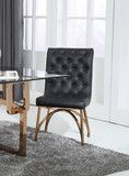 Modrest Rosie Modern Black & Rosegold Dining Chair Copper T, Gold Furniture, Contemporary Furniture, Armchair, Dining Chairs, Rose Gold, Luxury, Modern, Black