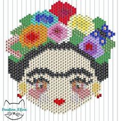 Hama Beads Patterns, Peyote Patterns, Beading Patterns, Cross Stitch Patterns, Cross Stitching, Cross Stitch Embroidery, Perler Bead Templates, Creation Art, Perler Bead Art