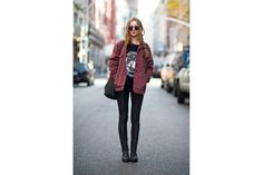 Street Style, New York leather pants: Urban Outfitters * jackets: Style Nanda