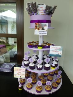 Blueberry Girl-Cupcake Tower