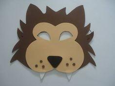 Máscara Lobo Mau - molde retirado da net