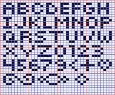 Mini Alphabet for Square Stitch or Loom - Beadwork