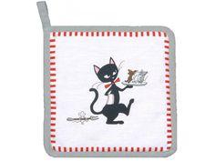 Manique chat noir