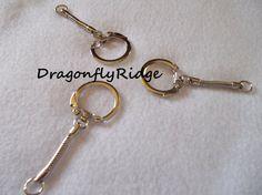 Silver Keychains DIY Jewelry Supplies Craft Gift by dragonflyridge, $3.00