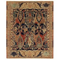 Exquisite Rugs Jurassic Hand Knotted Wool Blue/Beige Area Rug Rug Size: Rectangle x Pallette, Empire, Dash And Albert, Fabric Houses, Pad, Cool Rugs, Indoor Rugs, Persian Carpet, Rugs On Carpet