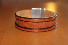 bracelet en cuir marron pour homme. fermoir aimanté : Bijoux pour hommes par isabond007