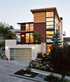 A modern exterior design. --Magnolia Gardens by Rhodes Architecture + Light Architecture Design, Plans Architecture, Residential Architecture, Amazing Architecture, Modern Minimalist House, Modern House Design, Minimalist Style, Minimalist Design, Style At Home
