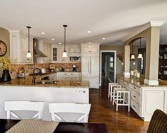 Kitchens With Columns love island with columns to support wall removed between kitchen