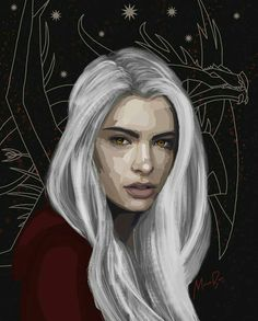 Manon Blackbeak everyone!!! She's beautiful omg. Art by monicaa_borg