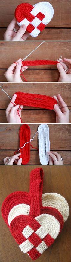 Learn how to make a crochet Danish heart