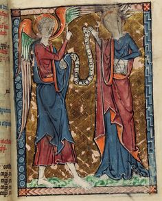 The Annunciation from 13th cent. Psalter [LPL MS 368 f.10r.]