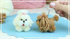 Pom Pom Crafts, Flower Crafts, Yarn Crafts, Yarn Animals, Crochet Animals, Diy Craft Projects, Crafts For Kids, Arts And Crafts, Pinterest Diy Crafts