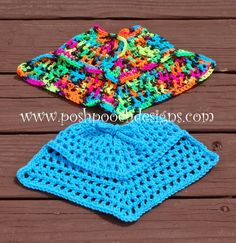 Posh Pooch Designs Dog Clothes: Summertime Dog Poncho Crochet Pattern  -   crocheted poncho for little dogs.