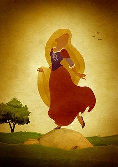 Disney Rapunzel Minimalist Movie Poster by moonposter on Etsy