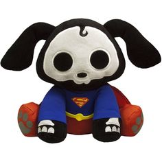 Peluche Skelanimals. Dax como Superman, 15cm