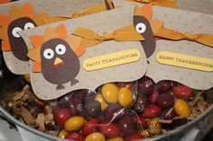 Stampin' Up!  Owl Punch  Heidi Boos  Turkey Treat Bag