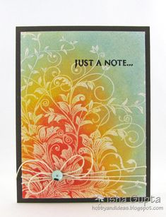 Just a Note by Isha - Cards and Paper Crafts at Splitcoaststampers