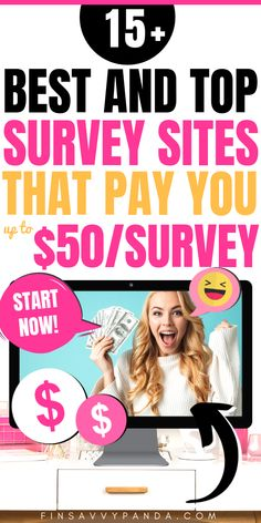 Top 10 Best Survey Sites That Pay You Cash (Survey Sites For Extra Money) - earn Make Money Taking Surveys, Surveys That Pay Cash, Make Money Online Surveys, Make Money Today, Way To Make Money, Money Fast, Sites Online, Online Jobs, Online Games