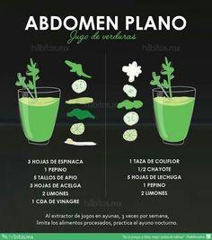 Abdomen plano, by hábitos.mx