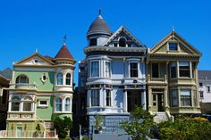 Photo about Painted Ladies, colourful historical Victorian houses near Alamo Square, San Francisco. Image of edwardian, alamo, color - 27098107 Victorian Style Homes, Victorian Houses, San Francisco Pictures, Alamo Square, Invisible Cities, Architectural Sculpture, Plaza Hotel, Old Buildings, Trip Advisor
