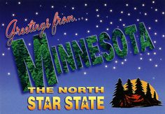 Greetings from Minnesota, The North Star State - Large Letter Postcard by Shook Photos, via Flickr