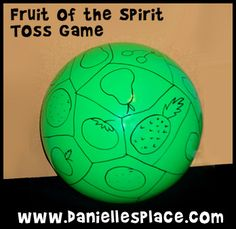 Possible games and crafts for preschoolers and early elementary Fruit of the Spirit Toss Game from www.daniellesplace.com