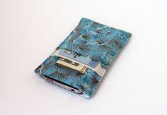 Blue Petals iPhone Pocket With 2 Card Slots. $12.00, via Etsy.