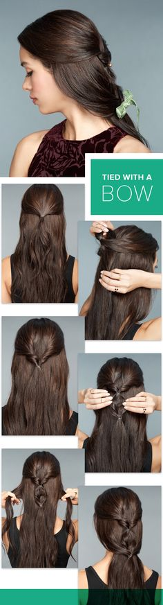 6 Party Hairstyles Nobody Can Ignore (Step by Step) - Fashion Array Work Hairstyles, Braided Hairstyles Tutorials, Holiday Hairstyles, Dress Hairstyles, Party Hairstyles, Hair Tutorials, New Year Hairstyle, Different Hairstyles, Hair Dos