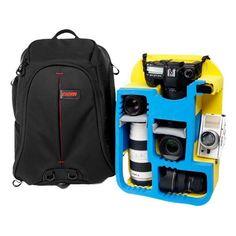 Caden portátil K8 bolso del morral del hombro impermeable para Canon Nikon DSLR Pentax videocámara lente de la cámara