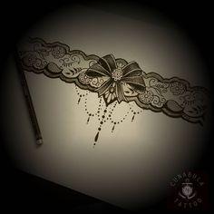 """#lace #lacetattoo #schleife #schleifen  #tattoodesign #art #sketching #tattoosketch #drawing #draw"""