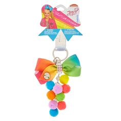 JoJo Siwa Bow Pom Pom Keychain.I CAN'T BELIEVE THIS I HAVE EVERY KEYCHAIN EXCEPT THIS ONE