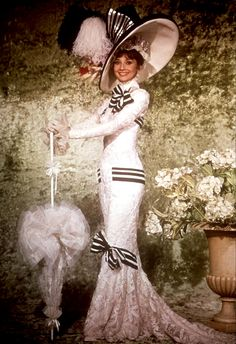 Audrey Hepburn in her outfit from Ascot in My Fair Lady