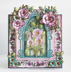 Designs by Marisa: Heartfelt Creations - Botanic Orchid Window Card